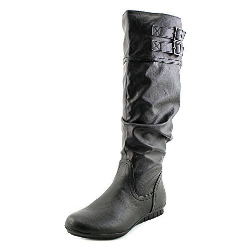 White Mountain Cayley Wide Calf Mujer US 6.5 Negro Botin Rodilla