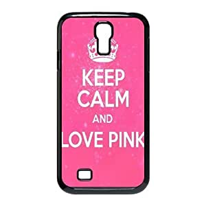 Diy Love Pink Colorful Custom Cover Phone Case for samsung galaxy s4 Black Shell Phone [Pattern-3]
