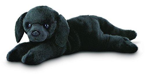 "Bearington Jet Black Labrador Retriever Plush Stuffed Animal Puppy Dog 15"""