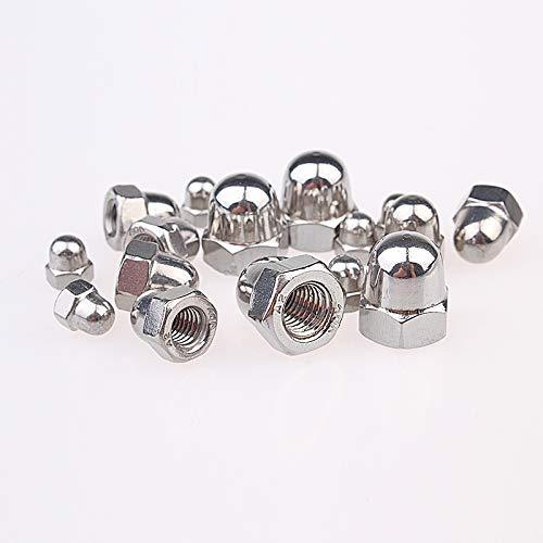 (20Pcs M3 M4 M5 M6 M8 304 Stainless Steel Cap Nuts Decorative Cover Semicircle Acorn Nut Hw104 M3)