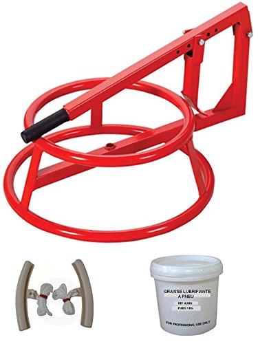 decolle neumático Manual portátil con banda + 1 par de protección llantas + grasa neumático 1 kg: Amazon.es: Coche y moto