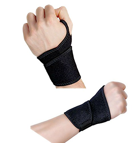 Reversible Sports Wrist Brace /Wraps/Support,Fitted Right / Left Thumb Stabilizer, Adjustable Wrist Support Wrap for Volleyball Badminton Tennis Basketball Weightlifting- For Women and Men (2pcs) by Lucky life