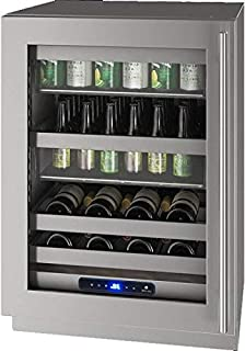 product image for U-Line UHBV524SG51A 5 Class Series 24 Inch Stainless Steel Freestanding or Built In Beverage Center, Stainless Steel