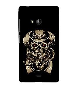 printtech Cowboy Skull snake Back Case Cover for Nokia Lumia 540::Microsoft Lumia 540