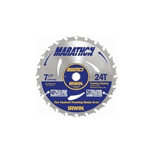 Irwin 14030 / 24030 Marathon 7-1/4-Inch 24-Tooth Circular Saw Blade,10 Pack