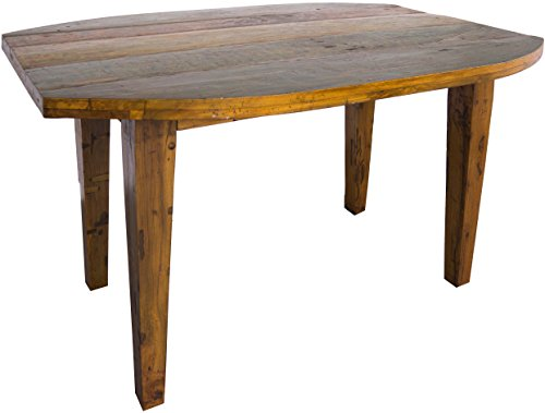 Guru-Shop Mesa de Comedor, Mesa de Cocina de Madera de Teca Reciclada, Marron, Tecareciclada, 84x160x100 cm, Mesas de Comedor Mesas de Cocina