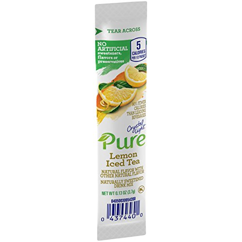 Tea Ice Beverage - Crystal Light Pure Lemon Iced Tea Drink Mix (84 On the Go Packets, 12 Boxes of 7)
