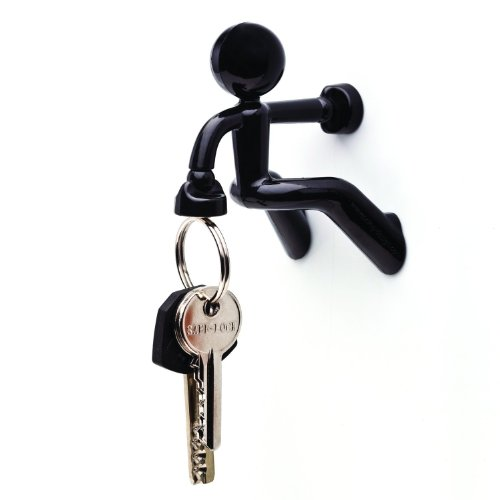 Diageng Key Pete Strong Magnetic Key Holder Hook Rack Magnet - Black (Single)