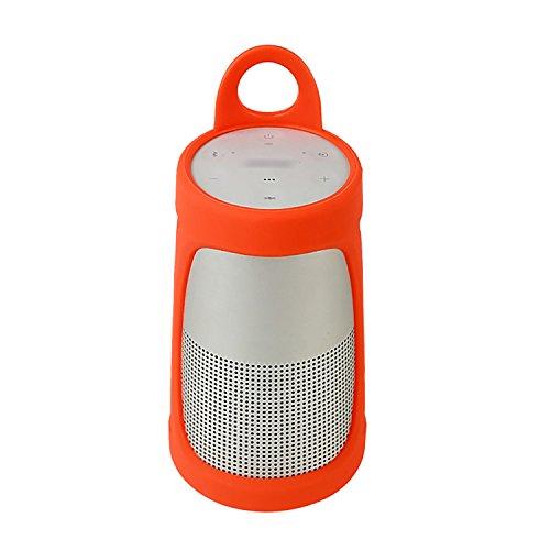LuckyNV Soundlink Revolve Case, Silicone Sling Cover Holder Protector Sleeve for Bose SoundLink Revolve Portable Bluetooth Speaker Orange by LuckyNV