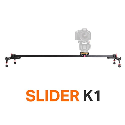 Konova Portable Slider Dolly K1 100cm (39.4 Inch) Track Aluminum light weight for Camera, Gopro, Mobile Phone, DSLR, Payloads up to 33lbs (15kg) with Bag