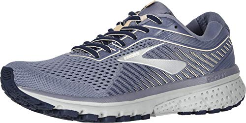 Brooks Women's Ghost 12 Granite/Peacoat/Peach 8 B US (Best Running Shoes For Neutral Pronation)
