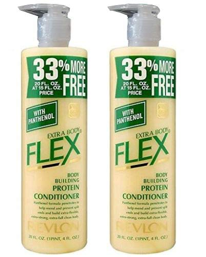 2 X Revlon Extra Body Flex Body Building Protein Conditioner 20 Fl Oz 592 ml Each