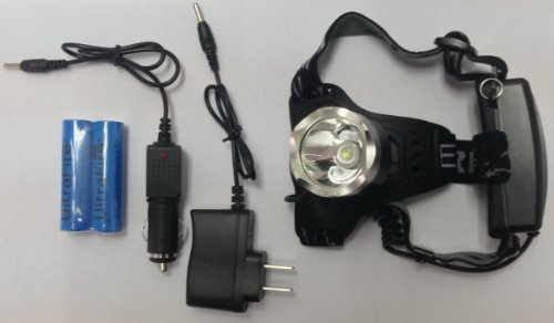 Towallmark Outdoor Waterproof LED Headlamp Plus Rechargeable Batteries/Charger