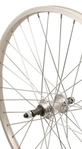 Sta-Tru Silver Alloy ATB Freewheel Hub Rear Wheel ()