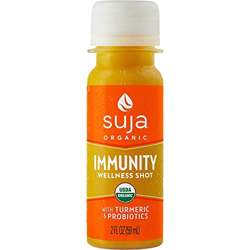 Suja Organic Juice, Immunity Wellness Shot with Turmeric & Probiotics, 2 Fl Oz (Pack of 15), 100% Plant-Powered Vegetable and Fruit Juices, Vegan, Gluten-free, Non-GMO, Made in USA