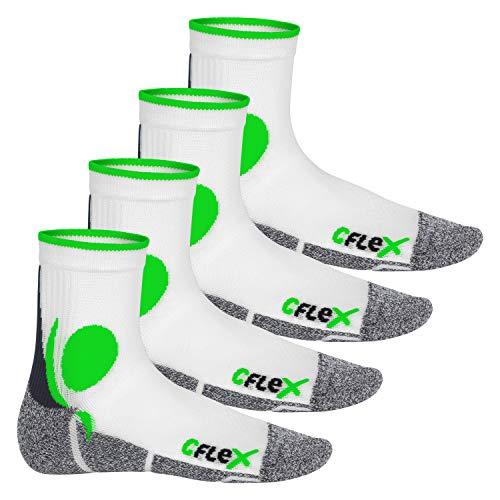 Les Vert Protection Blanc Chaussettes Cflex Chocs Contre De Paires Lot Sport 4 Respirantes q7xxY8Hw6