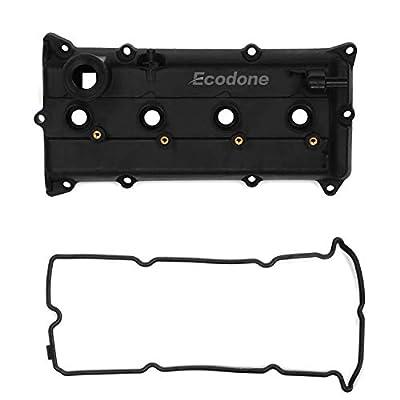 Ecodone Camshaft Engine Valve Cover & 2 Gaskets for 02-06 Nissan Altima Sentra 2.5L L4, PCV Cover Replace No.CNVG-D1252VC 13270-3Z000,13264-3Z001,264-982: Automotive
