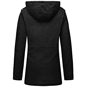 Wantdo Women's Warm Sherpa Lined Parka Coat With Removable Hood (Black, US S)