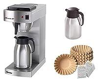 Bartscher Kaffeemaschine Aurora 20 + 250 Filter + 2. Isolierkanne + Entkalker