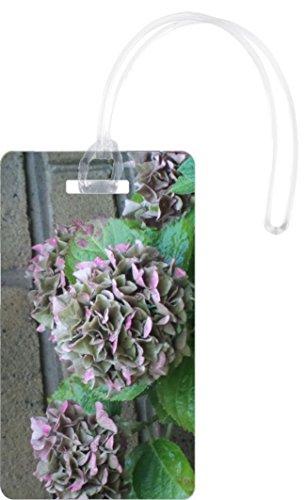 rikki knight y flores en jardín Inglés Flexi etiquetas de equipaje, Blanco, Una talla