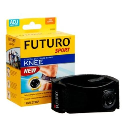 Image of 3M Health Care 09190EN Futuro Custom Dial Knee Strap, Adjustable, Black (Pack of 12) Knee Braces