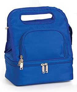 Pack of 2 Fully Insulated Lunch Bags w/ Food Storage Container - Royal Blue