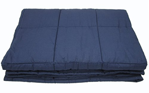 Weighted Blanket for Adults, 10lb, Cotton, Stress and Anxiety Relief, Helps Calm AAD, ADHD, Autism By Jade Silk by Jade Silk