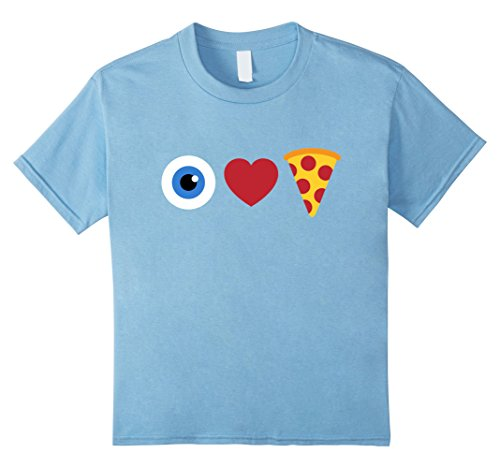 Kids I Love Pizza T-Shirt | Eye Heart Pizza Funny Emoji Shirt 4 Baby (Heart Pizza)