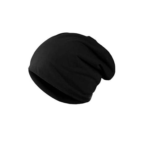 Bobury Cappello caldo degli uomini Cappello in sciarpa in cotone invernale  con cappello liscio 6e3c2c54cc5c