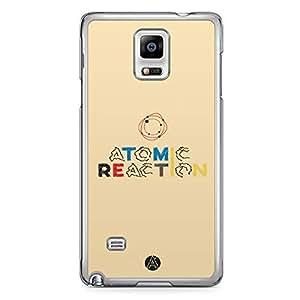 Designer iPhone Samsung Note 4 Tranparent Edge Case - Atomic reaction