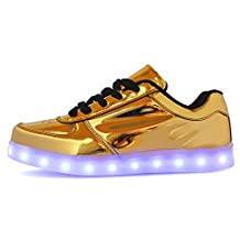 Unisex USB Rechargeable LED Shoes Men's Fashion Metal light Cool Sneakers Women's Flashing Shoes