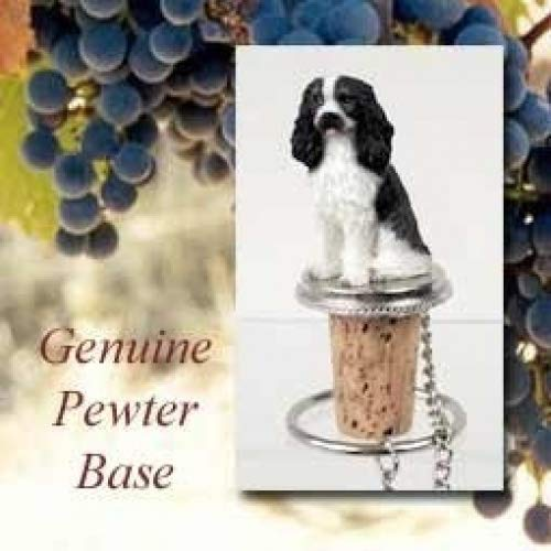 Cavalier King Charles Spaniel Black/White Wine Bottle Stopper DTB80B ()