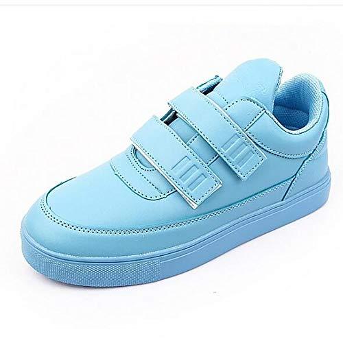 ZHZNVX Zapatos de Mujer de Microfibra/PU (Poliuretano) Spring Comfort Sneakers Flat Heel Beige/Green / Blue Blue
