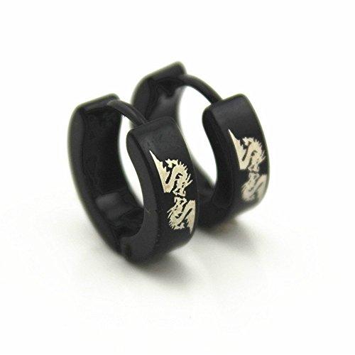 - Women Earrings Girls Ear Cuff Fashion for Women Men stud Clip Dragon hoop