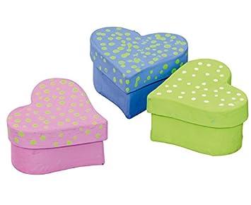 efco Corazón Cajas de Cartón - Cajas de Cartón Corazón para manualidades y Pintar, 51 unidades: Amazon.es: Jardín