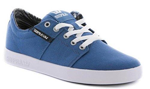 Supra Skateboard Schuhe Stacks II Stone Blue / Black-White - Sneakers Sneaker Stone Blue / Black White