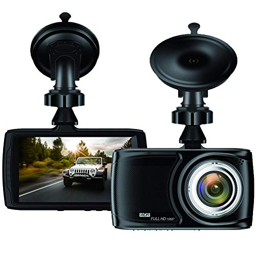 BUIEJDOG in Car Dash Cam 1080P FHD DVR Car Driving Recorder 3.5 LCD Screen 170°Wide Angle Car Camera with G-Sensor, WDR, Parking Monitor, Loop Recording, Motion Detection