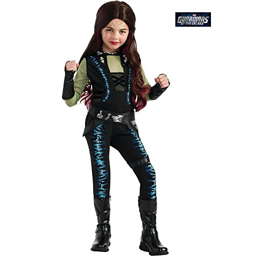 Disguise Marvel Guardians of The Galaxy Gamora Deluxe Girls Costume, One Color, -