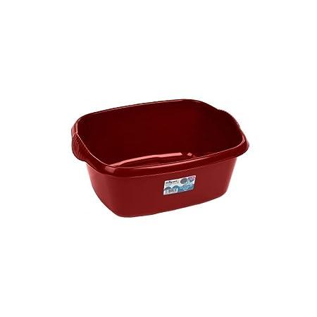 Chilli Red Large Plastic 38cm Regtangle Washing Up Sink Bowl