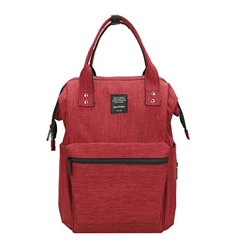 BigForest Multifunction Baby Diaper Nappy Changing Bag Mummy Backpack Travel Bag Tote Handbag Red