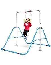 OneTwoFit Gymnastics Training Bar Expandable Kip Bars 4 Adjustable Height Folding Training Monkey Bars for Home Gym