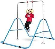 OneTwoFit Gymnastics Training Bar Expandable Kip Bars 4 Adjustable Height Folding Training Monkey Bars for Hom
