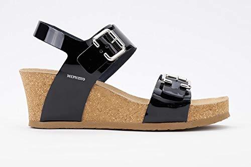 - Mephisto Women's Lissandra Platform Dress Sandal, Black Patent, 10 M US