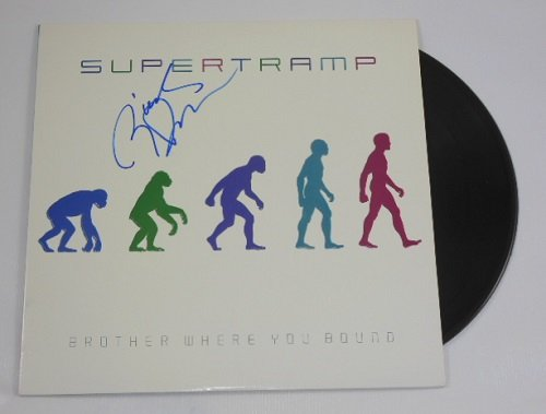 Autographed Record - Supertramp Brother Where You Bound Rick Davies Hand Signed Autographed Lp Record Album with Vinyl Loa