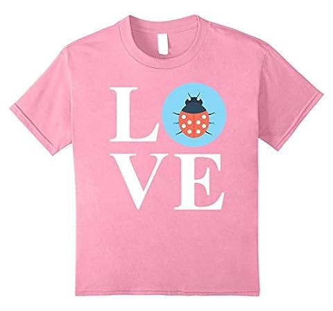 Kids Love Ladybugs Shirt: Funny Cute Ladybug Beatle Gift 8 Pink (Beatles Gifts For Kids)