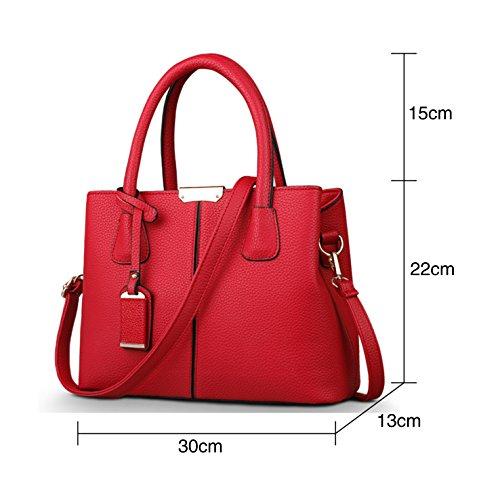 Nuevo Cruz Del De La Bolso Cuerpo Hehe Monedero Totalizador Diseño Mujeres Cuero Las Rojo BgqYdqw