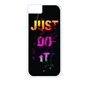 Paint Splash-Just Do It - Hard White Plastic Snap - On Case with Soft Black Rubber Lining-Apple Iphone 5 - 5s - Great Quality!