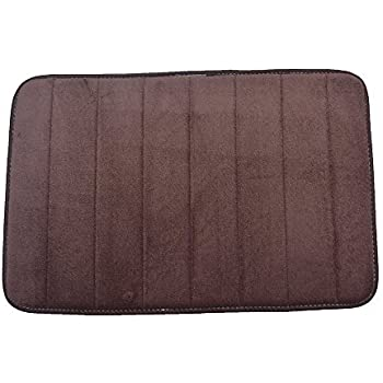 Captivating This Item Townhouse Rugs Luxurious 17 Inch By 24 Inch Memory Foam Bath Rug,  Brown