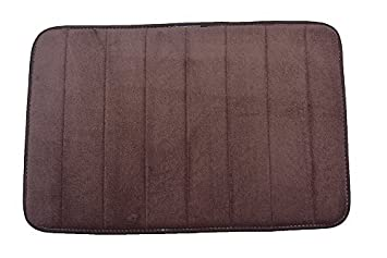 Townhouse Rugs Luxurious 17 Inch By 24 Inch Memory Foam Bath Rug, Brown