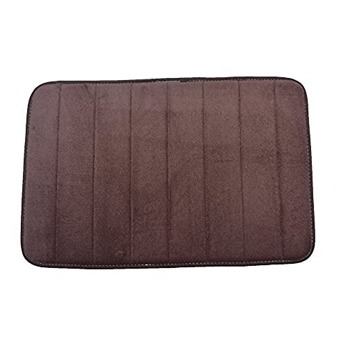 Beau Townhouse Rugs Luxurious 17 Inch By 24 Inch Memory Foam Bath Rug, Brown